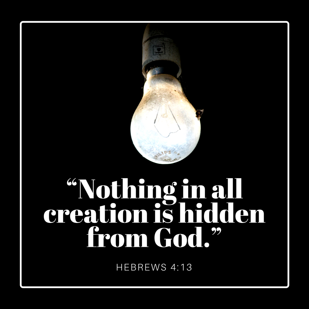 """Nothing in all creation is hidden from God."""